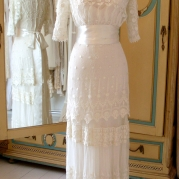 Original Edwardian and 1920s vintage wedding dress
